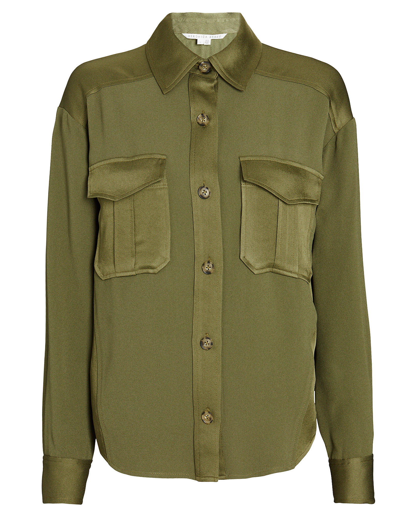 Ainsley Cargo Button-Down Shirt, OLIVE/ARMY, hi-res