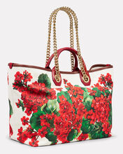 Large Capri Canvas Tote, WHITE/RED FLORAL, hi-res