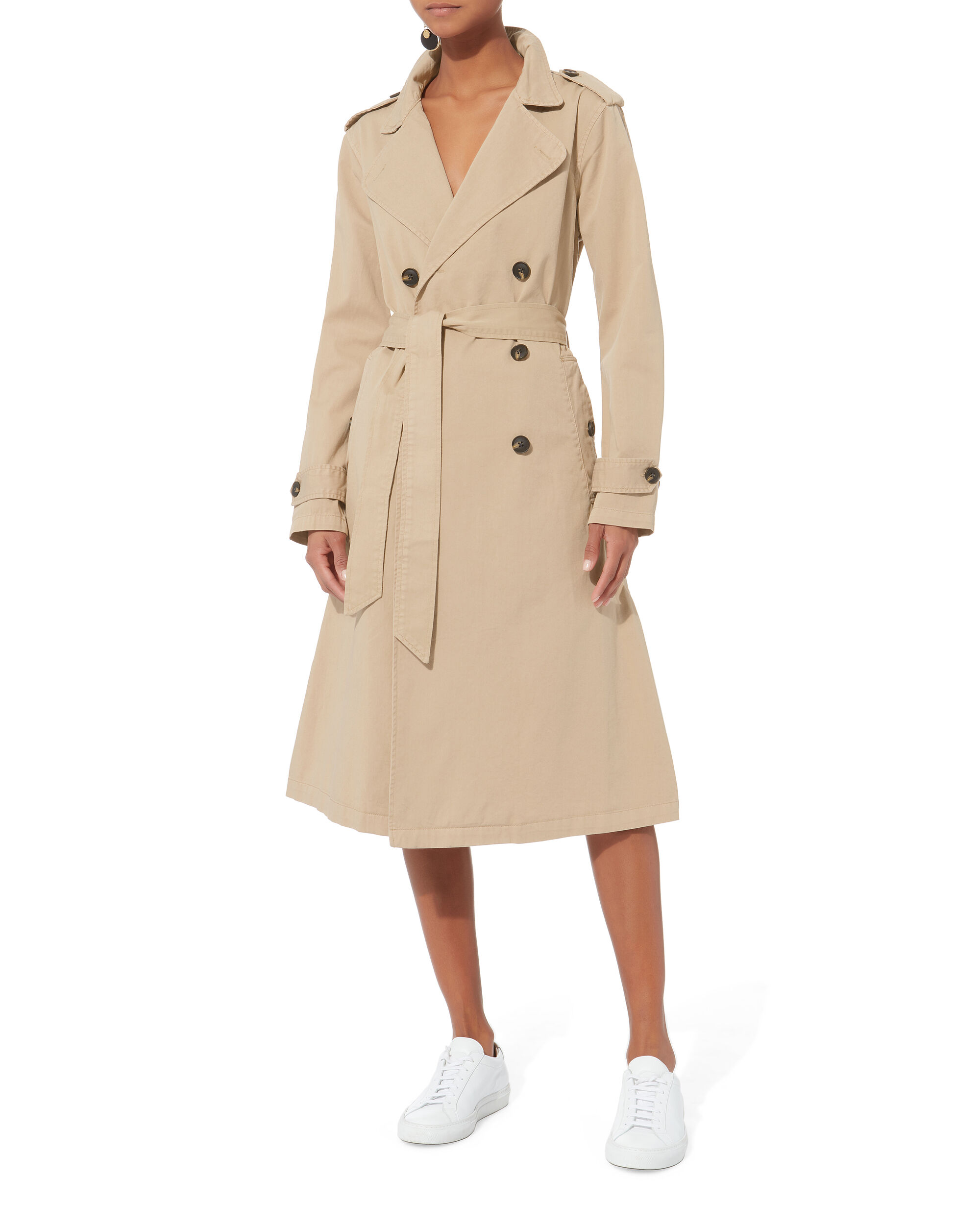 Dorian Trench Coat, BEIGE, hi-res