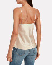Silk Cowl Neck Camisole, BLUSH, hi-res