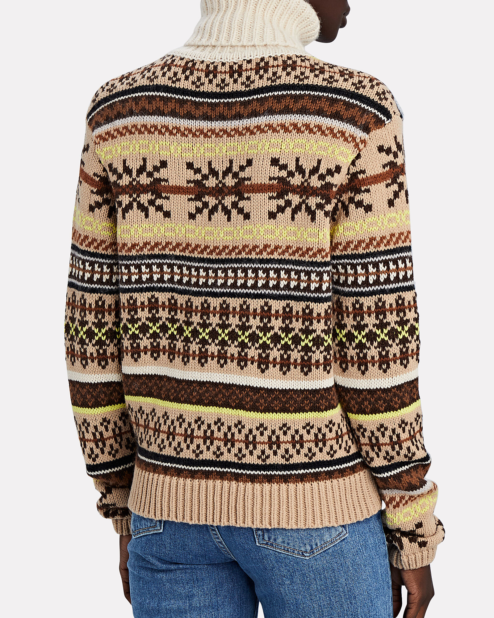 Creedance Fair Isle Turtleneck, BEIGE, hi-res