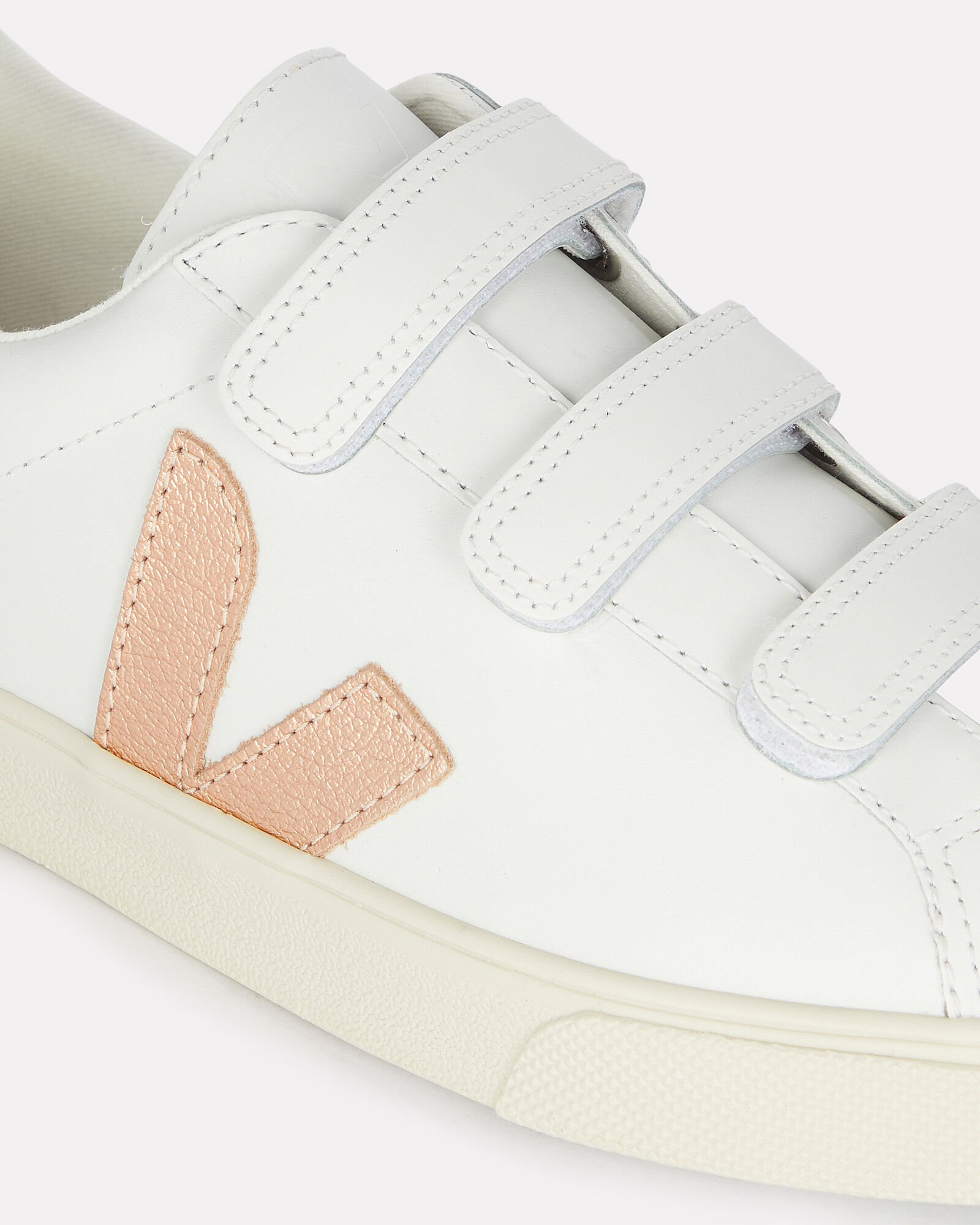 V-lock Velcro Low-Top Sneakers, WHITE, hi-res