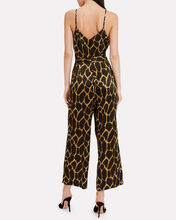Jaelyn Silk Jumpsuit, BROWN/GIRAFFE, hi-res