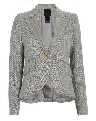 Herringbone Wool Blazer, MULTI, hi-res
