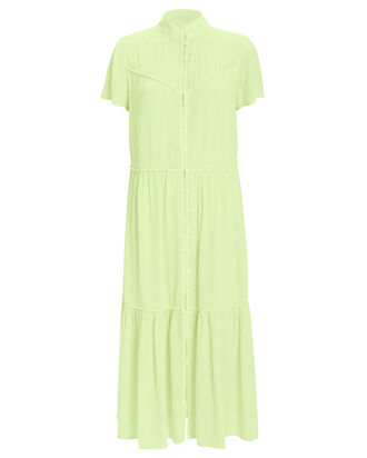 Libby Short Sleeve Dress, LIME GREEN, hi-res