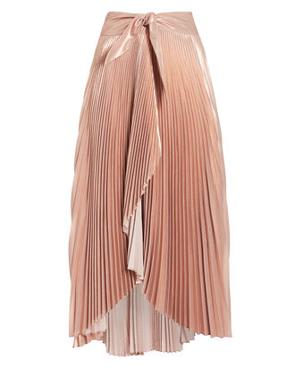 Eleanor Pleated Skirt, ROSE, hi-res