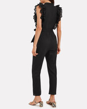 Limon Eyelet Cotton Jumpsuit, BLACK, hi-res
