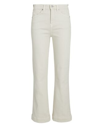 Carson High-Rise Ankle Flare Jeans, ECRU, hi-res