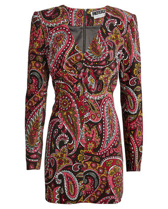 No. 48 Paisley Velvet Dress, MULTI, hi-res