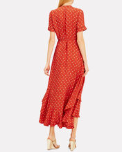 Sundara Wrap Dress, RED/WHITE, hi-res