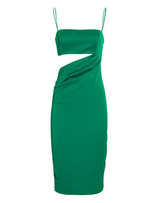 Selena Cutout Emerald Midi Dress, EMERALD, hi-res