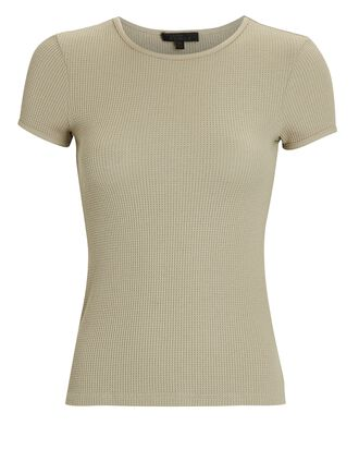 Stark Waffle Knit T-Shirt, PALE OLIVE, hi-res