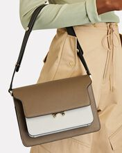 Trunk Leather Crossbody Bag, LIGHT BROWN/IVORY, hi-res