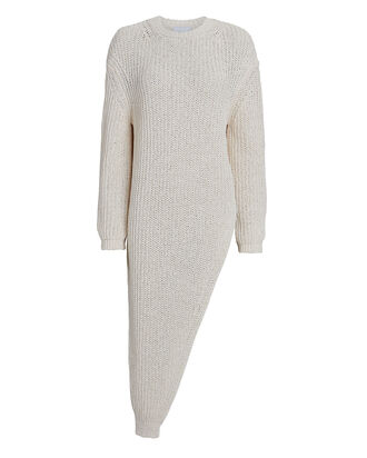Rodi Asymmetrical Crewneck Sweater, IVORY, hi-res