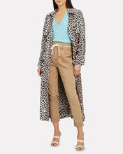 Olympic Leopard Trench Coat, BEIGE LEOPARD, hi-res