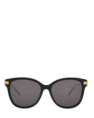 Oversized Rectangle Sunglasses, BLACK/GOLD, hi-res