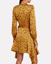 Hammered Silk Floral Mini Dress, MARIGOLD/FLORAL, hi-res