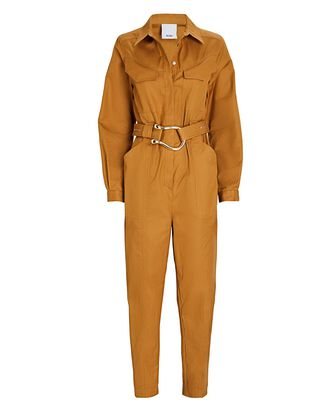 Battan Cotton Boiler Jumpsuit, ORANGE, hi-res