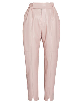 Khloe Vegan Leather Pants, PINK, hi-res
