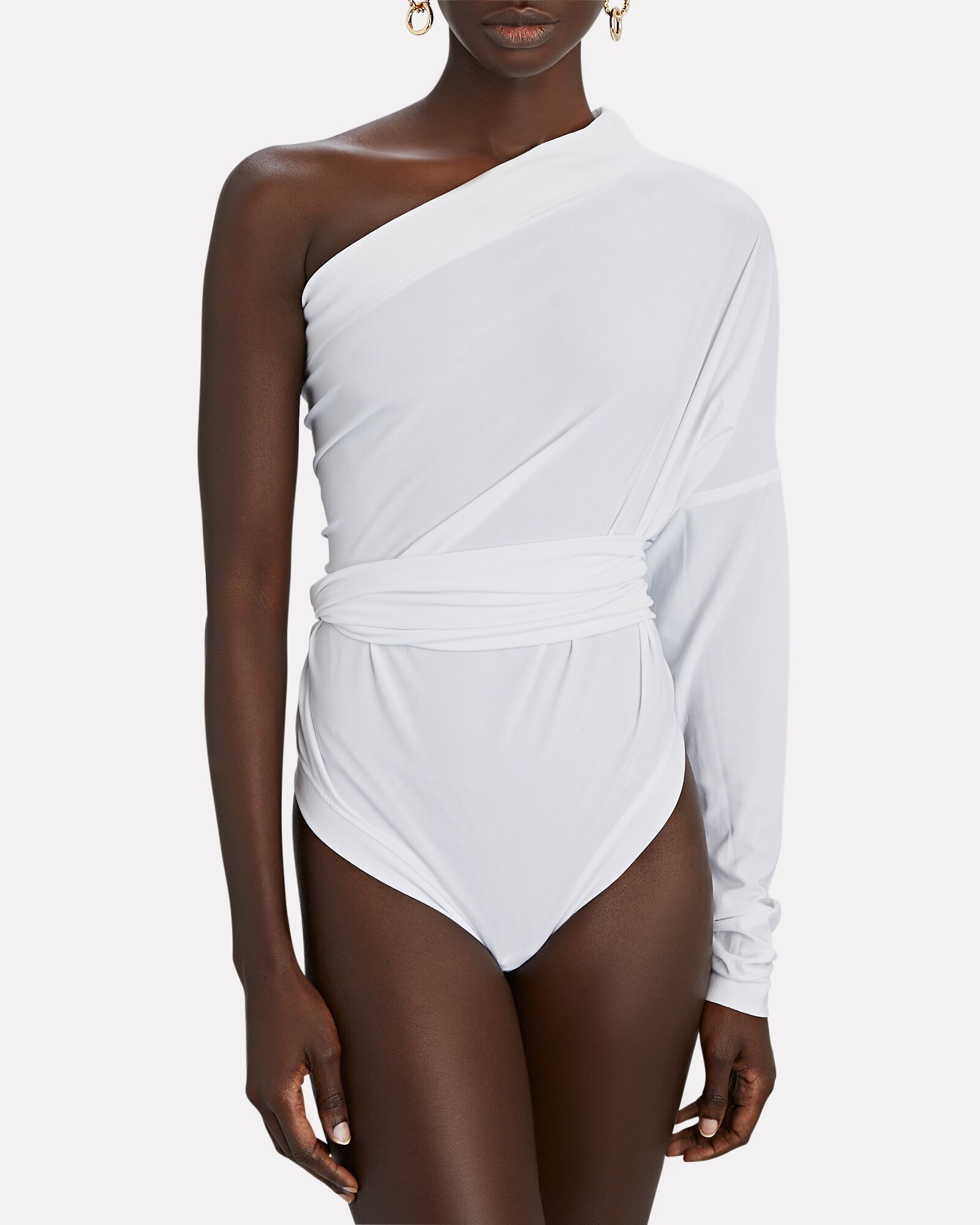 All-In-One Convertible Jersey Bodysuit, WHITE, hi-res