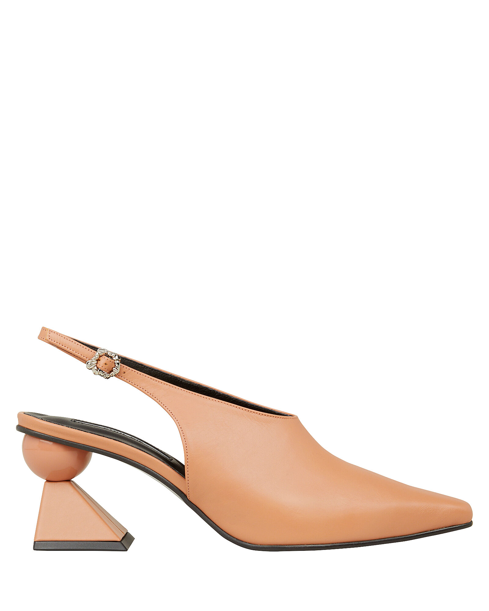 Selena Abstract Heel Slingback Pumps, BEIGE, hi-res