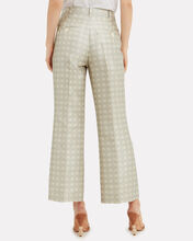Bob Mikado Check Trousers, IVORY/BLUE, hi-res