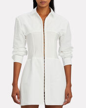 Poplin Corset Shirt Dress, WHITE, hi-res