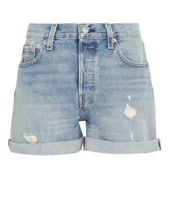501 Long Rolled Shorts, MEDIUM WASH DENIM, hi-res