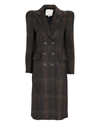 Mats Plaid Double-Breasted Coat, MULTI, hi-res