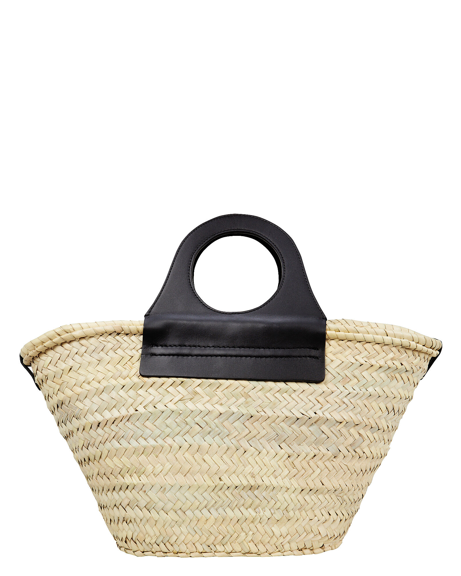 Cabas Straw Tote Bag, BEIGE, hi-res