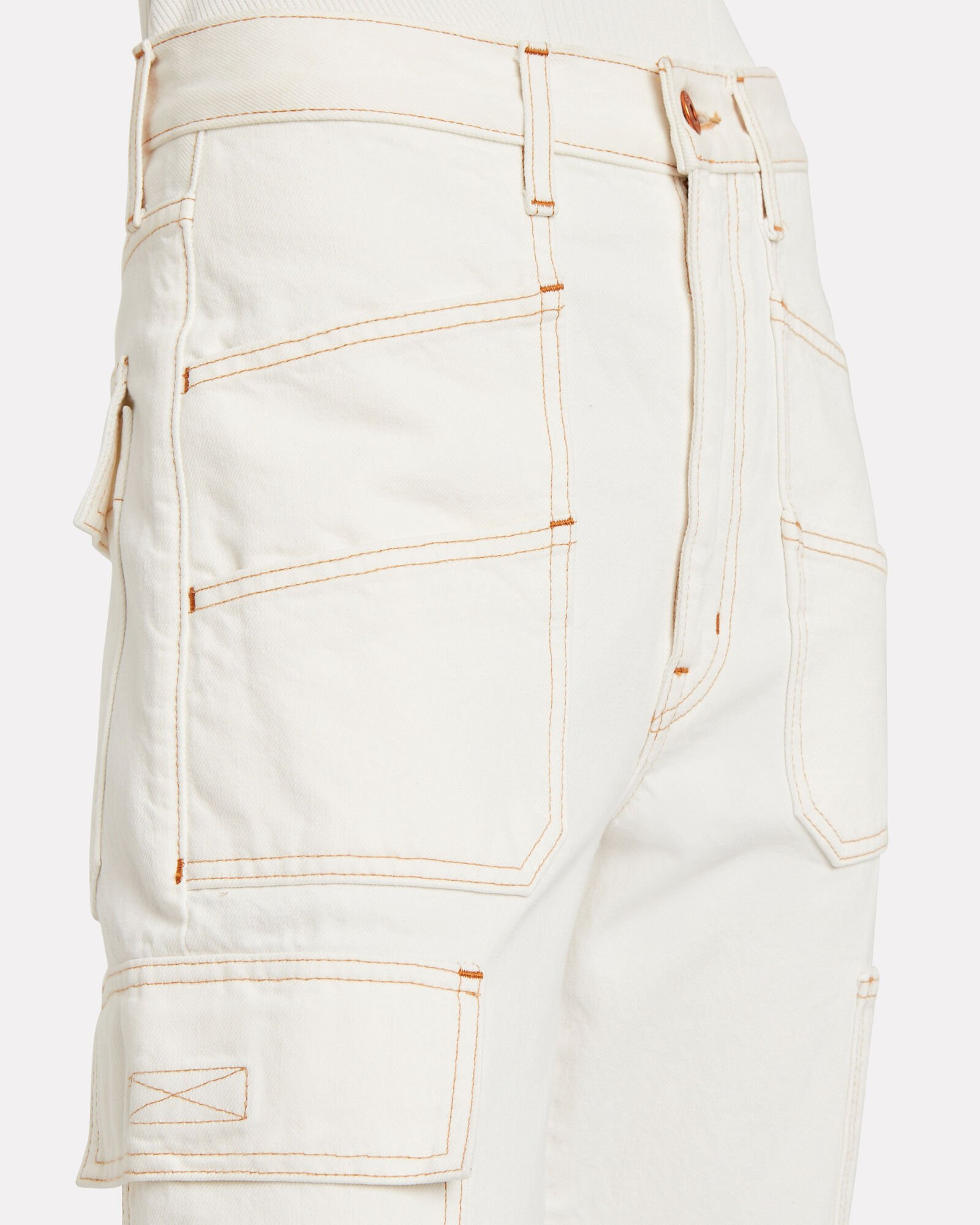 Savior High-Rise Cargo Jeans, OFF WHITE, hi-res