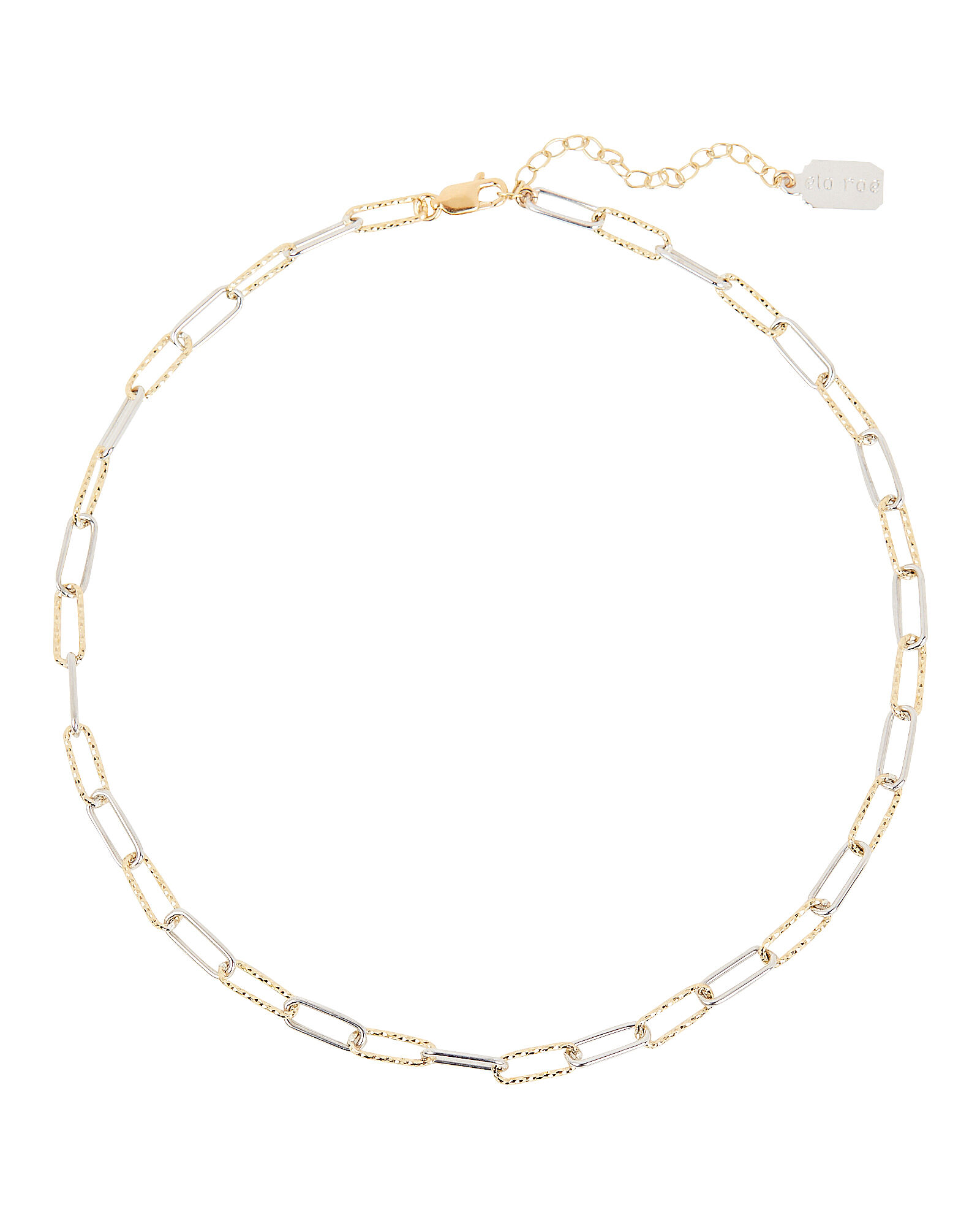Interlocking Mixed Chain Link Necklace, GOLD, hi-res