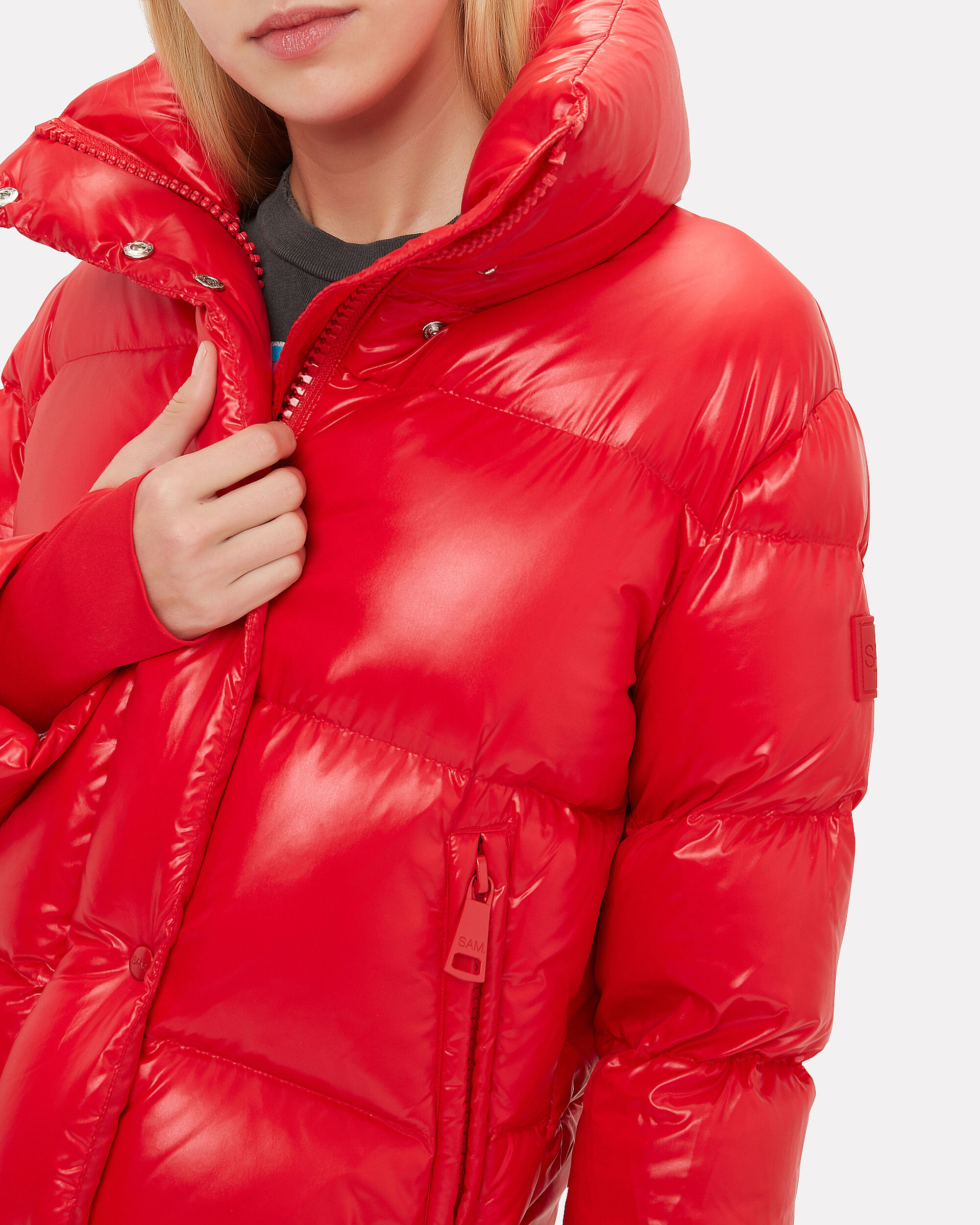 Andi Cherry Puffer Jacket, RED, hi-res