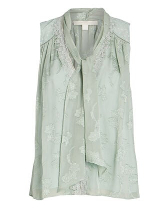 Renee Sleeveless Floral Jacquard Top, , hi-res