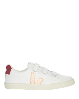 V-lock Velcro Low-Top Sneakers, WHITE/ROSE GOLD, hi-res