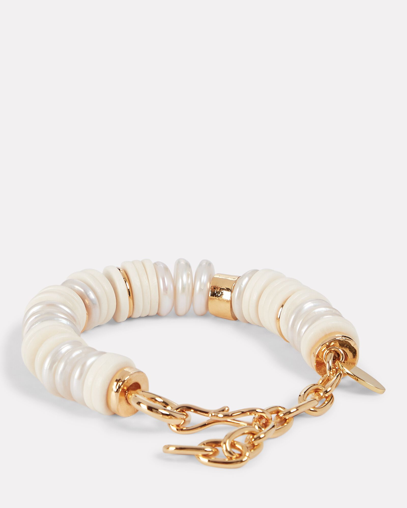 Pearl Candy Beaded Bracelet, WHITE, hi-res