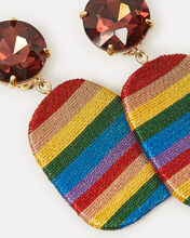 After The Storm Striped Earrings, RAINBOW/STRIPE, hi-res