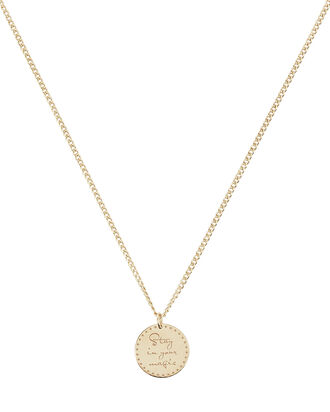 Stay In Your Magic Mantra Necklace, GOLD, hi-res