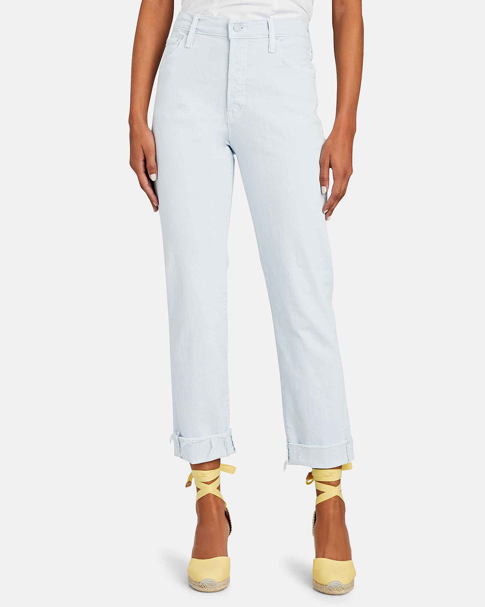 The Scrapper Cuff Ankle Fray Jeans, BLUE-LT, hi-res
