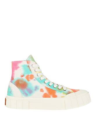 Palm Tie-Dye High-Top Sneakers, MULTI, hi-res
