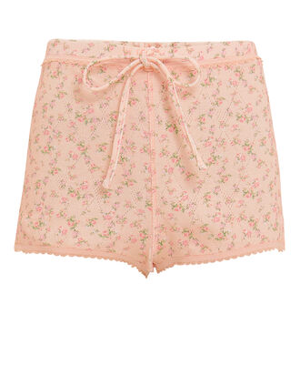 Layla Pointelle Twill Shorts, BLUSH/FLORAL, hi-res