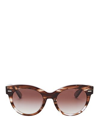 Georgica Cat Eye Sunglasses, BROWN, hi-res