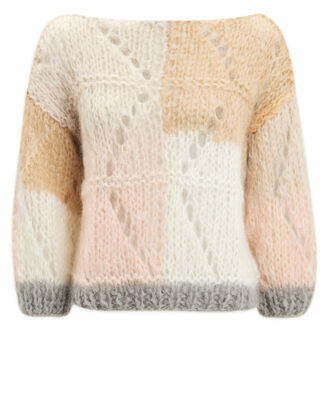 Janis Sweater, IVORY/MULTI, hi-res
