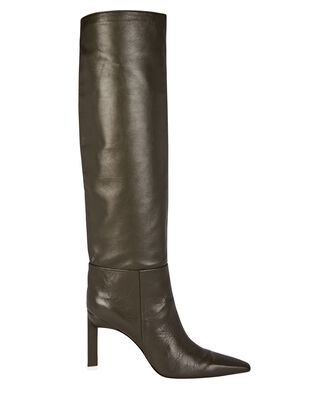 Vitto 85 Leather Knee-High Boots, GREEN, hi-res