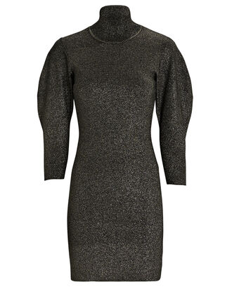 Samuel Puff Sleeve Knit Dress, BLACK, hi-res