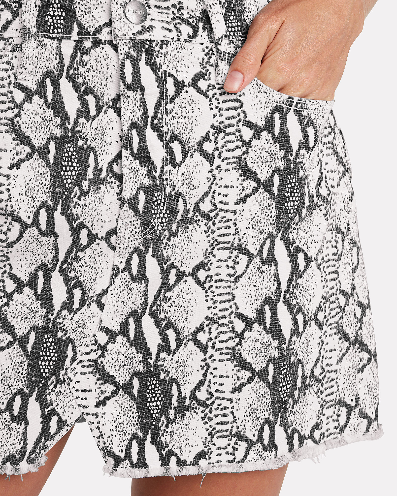 Le Mini Python Denim Skirt, MULTI, hi-res