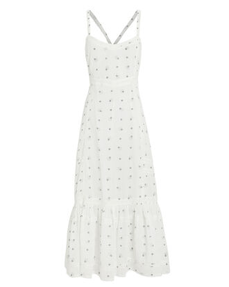 Edith Tiered Cotton Dress, WHITE/PRINT, hi-res