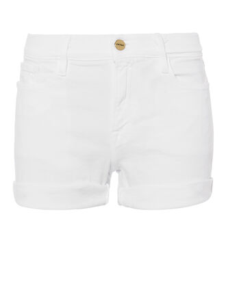 Le Cut-Off Cuff Shorts, WHITE DENIM, hi-res