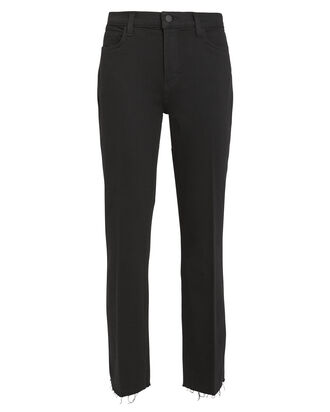 Sada Slim Straight Leg Jeans, BLACK, hi-res