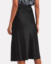 Misha Silk Charmeuse Midi Skirt, BLACK, hi-res